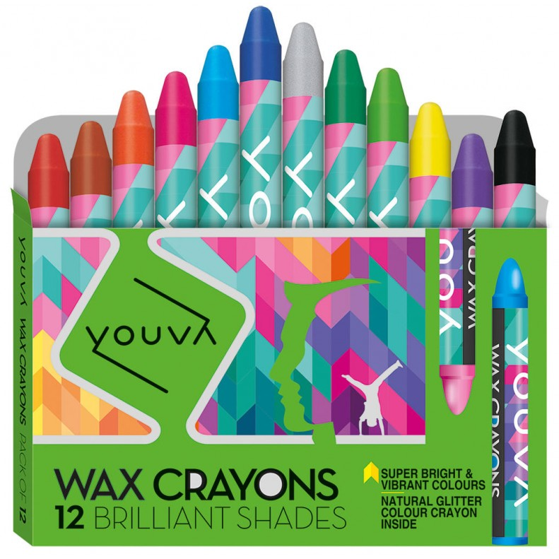 Youva Wax crayons Small Pack of 12