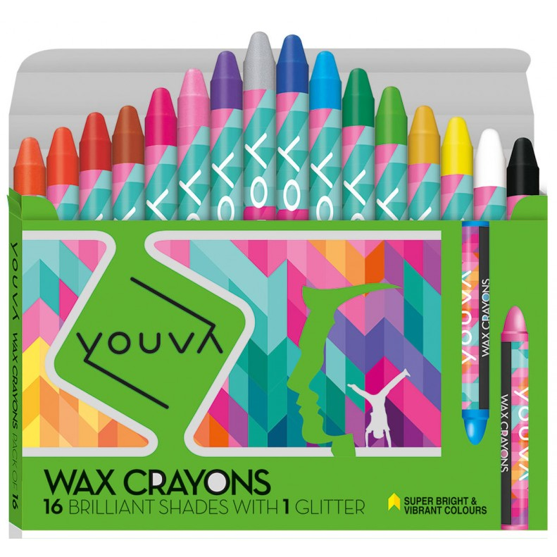 Youva Wax crayons Pack of 16