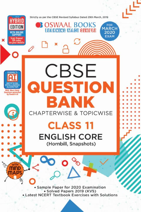 Oswaal CBSE Question Bank Class 11 English Core Chapterwise & Topicwise