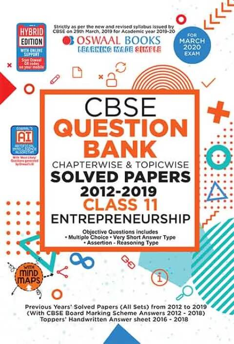 Oswaal CBSE Question Bank Class 11 Entrepreneurship