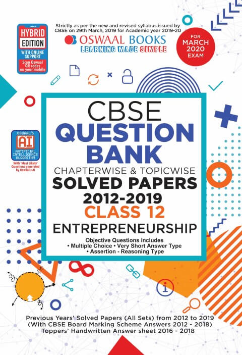 Oswaal CBSE Question Bank Class 12 Entrepreneurship