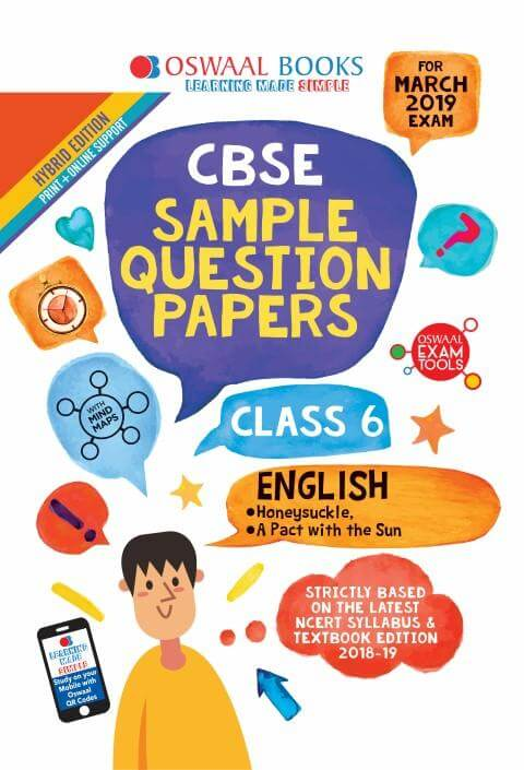 Oswaal CBSE Sample Question Papers Class 6 English
