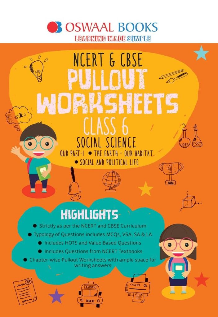 Oswaal NCERT & CBSE Pullout Worksheet Class 6 Social Science