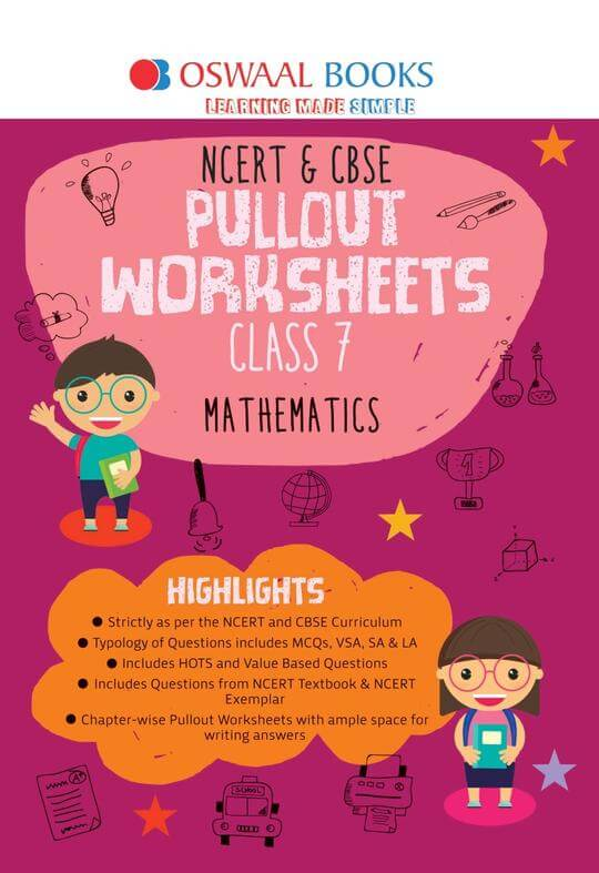 Oswaal NCERT & CBSE Pullout Worksheets Class 7 Maths