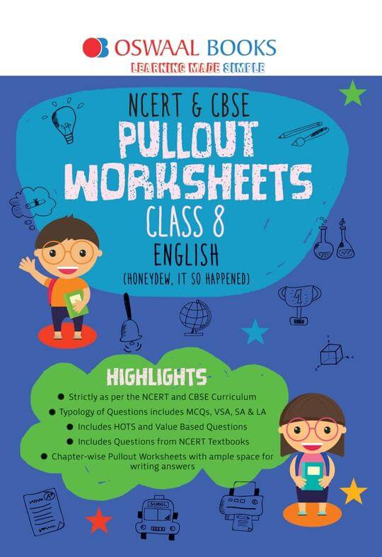 Oswaal NCERT & CBSE Pullout Worksheet Class 8 English