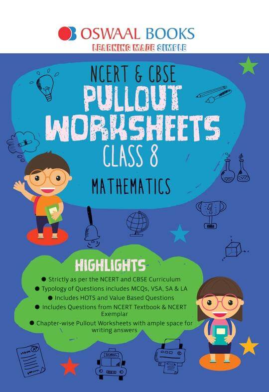 Oswaal NCERT & CBSE Pullout Worksheets Class 8 Maths