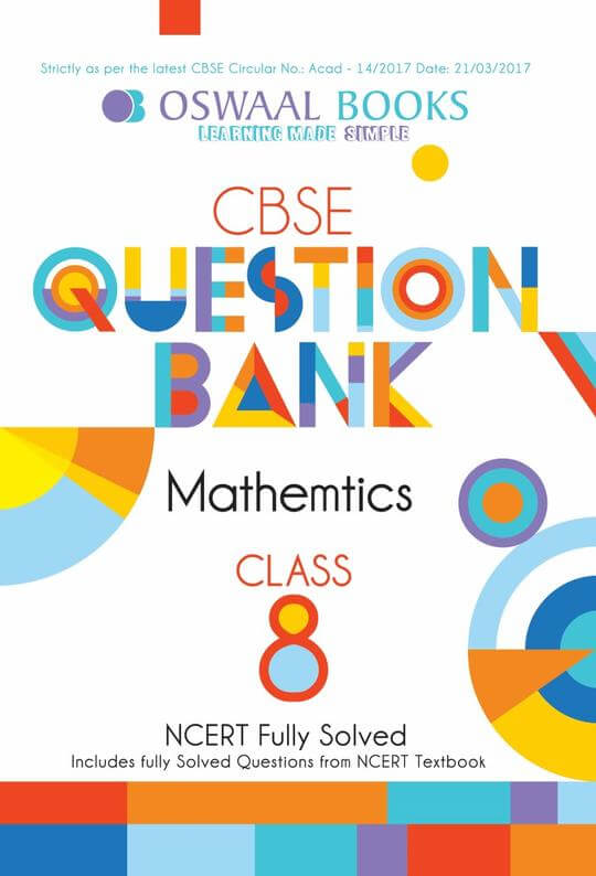 Oswaal CBSE Question Bank Mathematics for Class 8