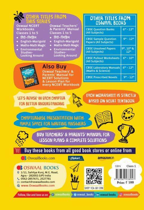 Maths Workbook For Class 1