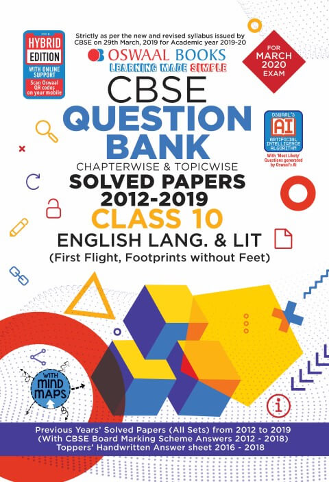 Oswaal CBSE Question Bank Class 10 English Language & Literature