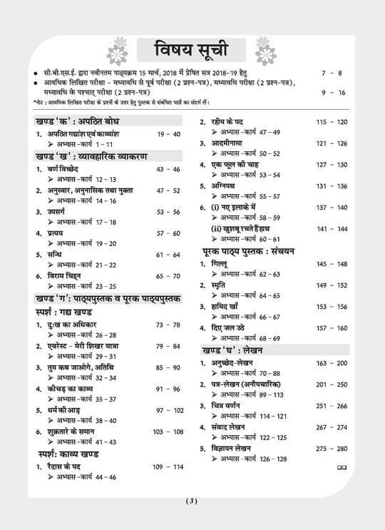 Oswaal CBSE Pullout Worksheet Class 9 Hindi B