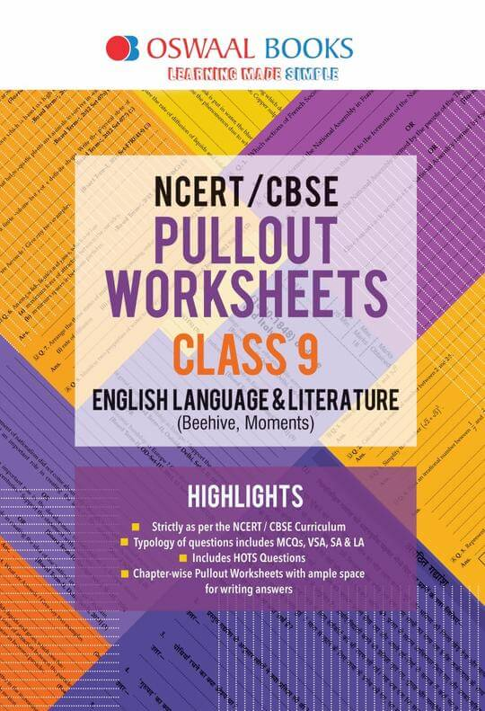 Oswaal NCERT & CBSE Pullout Worksheets Class 9 English Language and Literature