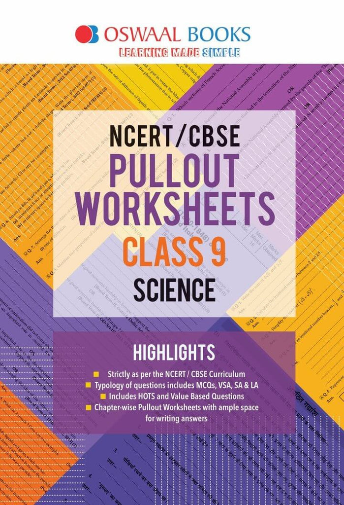Oswaal CBSE Pullout Worksheet Class 9 Science