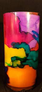 Hand Painted Tall Candle - Multi Colour