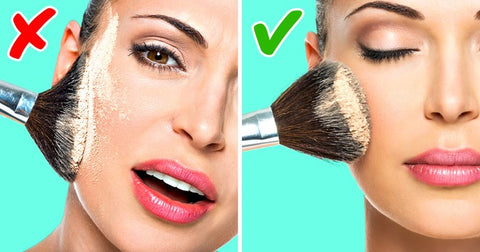 how to apply transparent powder correctly