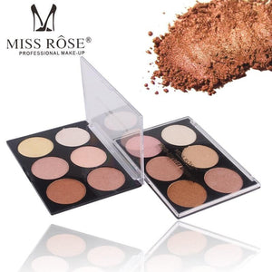 MISS ROSE 6 Color Highlighter Palette