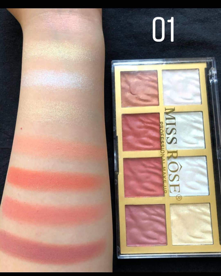 Miss Rose Highlighter & Blush Kit