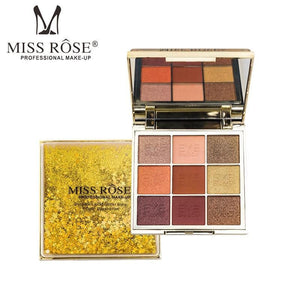 MISS ROSE Professional Makeup 9 Color Eye Shadow Palette