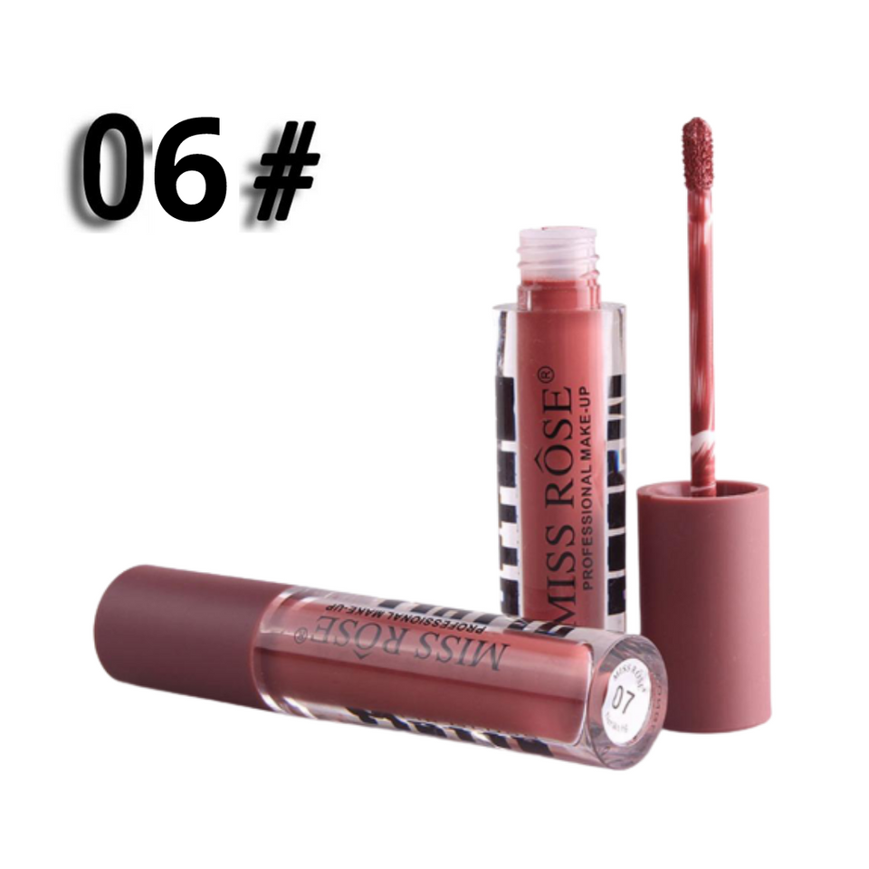 MISS ROSE New Fashion Color Matte Gloss  (Set of 6)