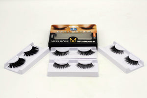 Miss Rose 3D Eyelashes (4 in 1)