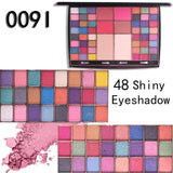 MISS ROSE Eye Shadow Multicolor Women's 54 Colors Pearl Glitter Powder Palette Matt Natural Eyeshadow Cosmetics Make Up 19L0530
