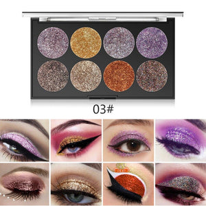Miss Rose Makeup Palette 8 Color Glitter