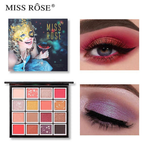 MISS ROSE Makeup 16 Color Pigment Eyeshadow Palette