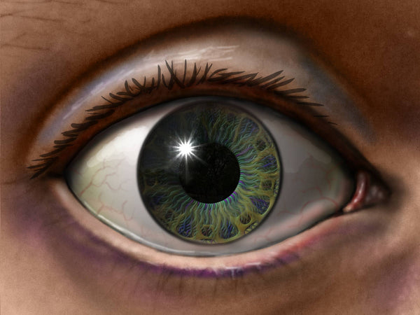 painting of eye for halftone