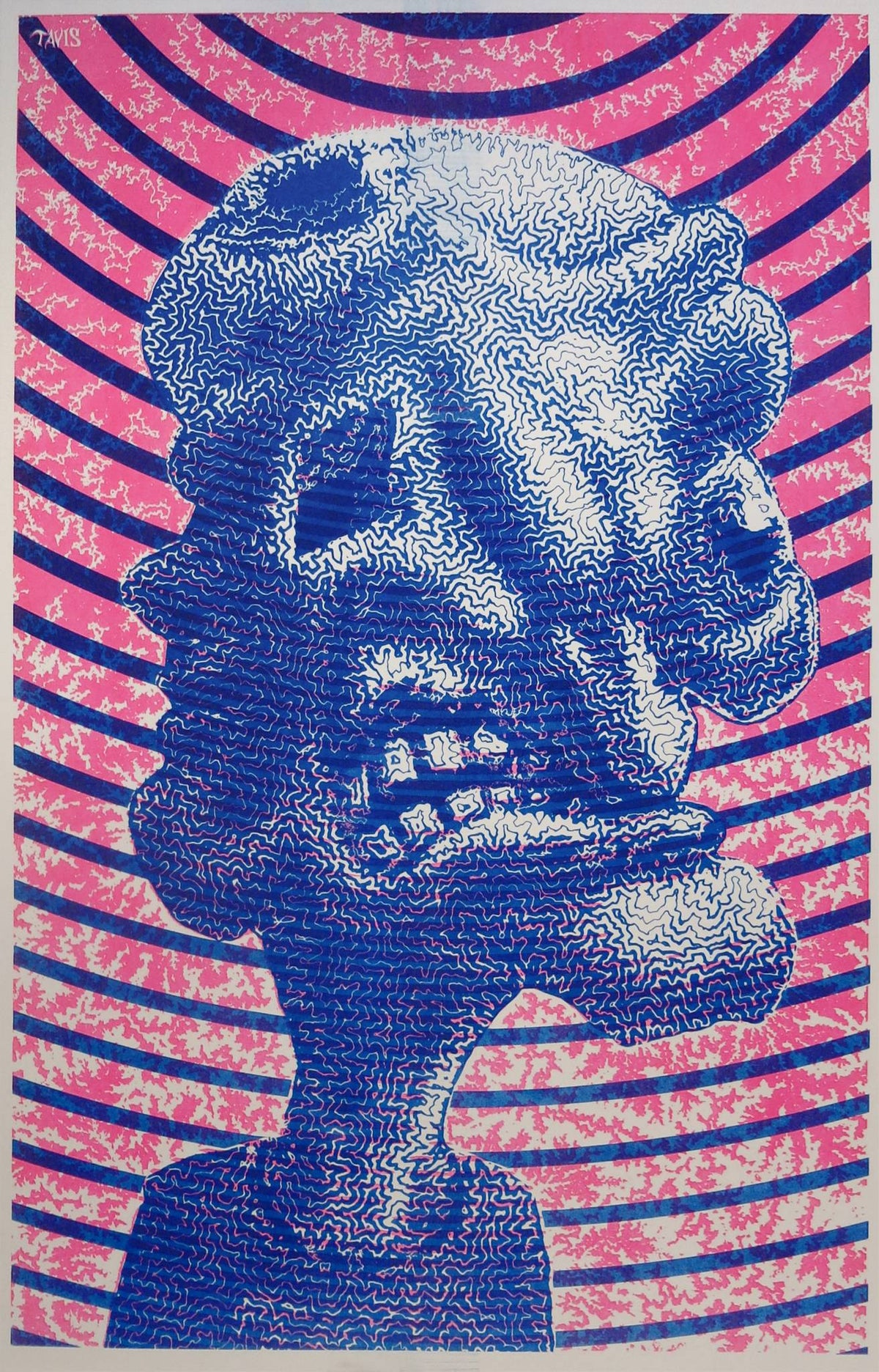 """The Excorcist"" 2-color risograph print on 11 x 17 paper, limited edition of 100"