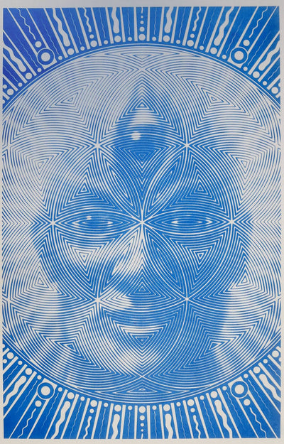 """Inner Wisdom"" 1-color risograph print on 11 x 17 paper, limited edition of 100"