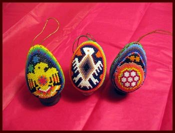 Beaded Huichol Eggs