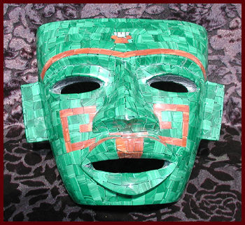 Malachite and Jasper Mask with Open Eyes (normally $375.00)