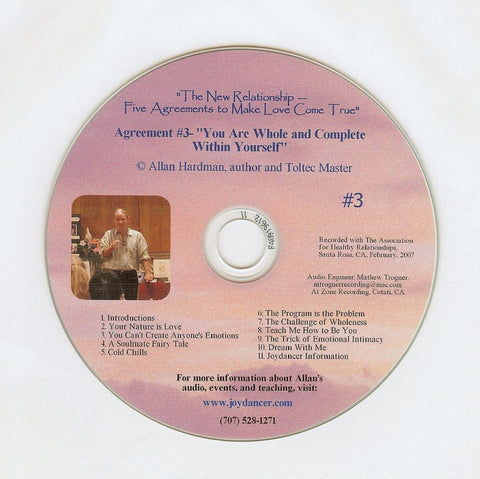 "Allan Hardman: The New Relationship - CD #3<br>""Being the source of love, you are complete within yourself."""