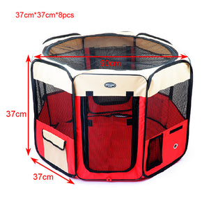 Petforu Portable Foldable Waterproof Oxford Cloth Pet Puppy Dog Cat Tent  - Red