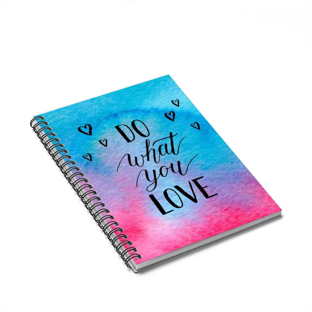Blue and Pink notebook