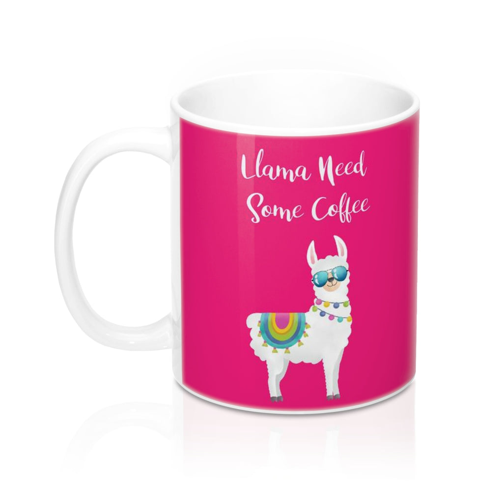 Llama Need Some Coffee Mug 11oz