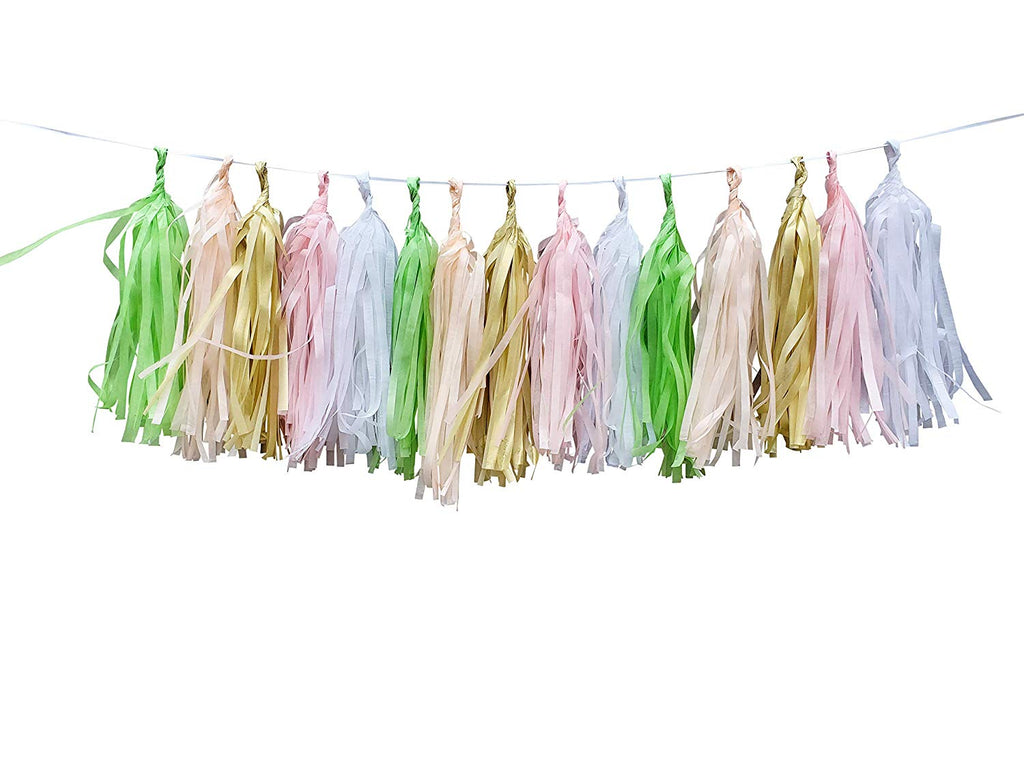 Sweet as a peach tissue tassel banner
