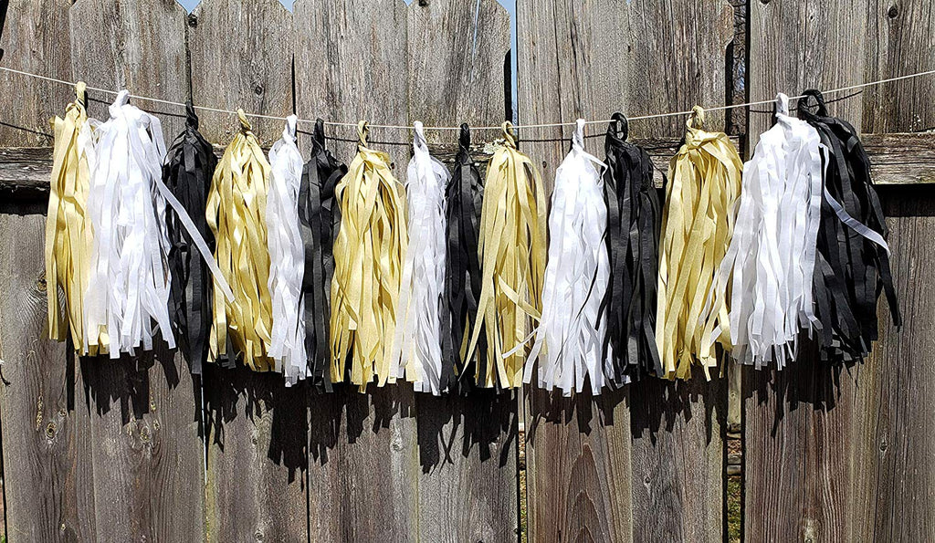 Black tissue tassel