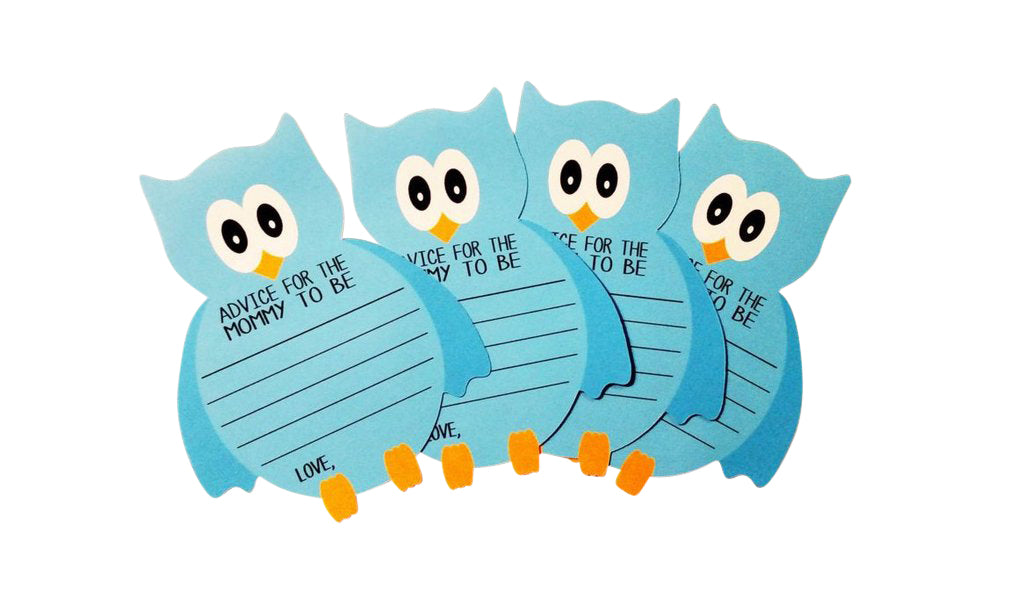 Blue Owl wishes cards for mom to be