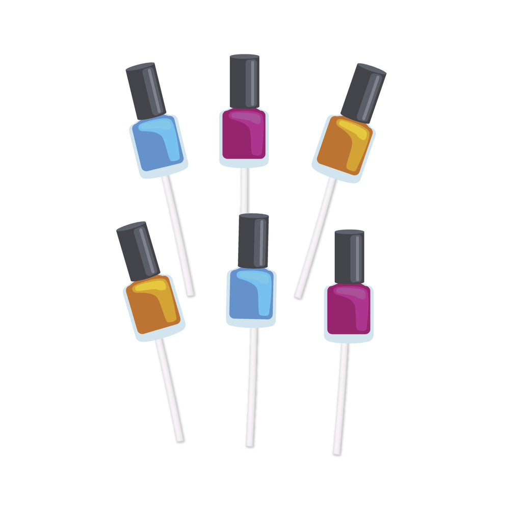 manicure nail polish bottle cupcake toppers
