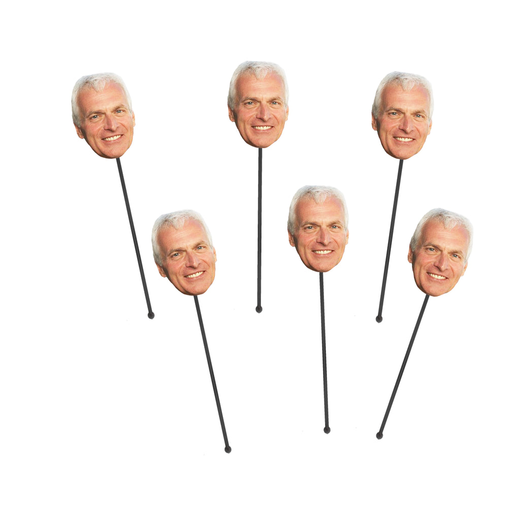 Customized Face Drink Stirrers (12 count)
