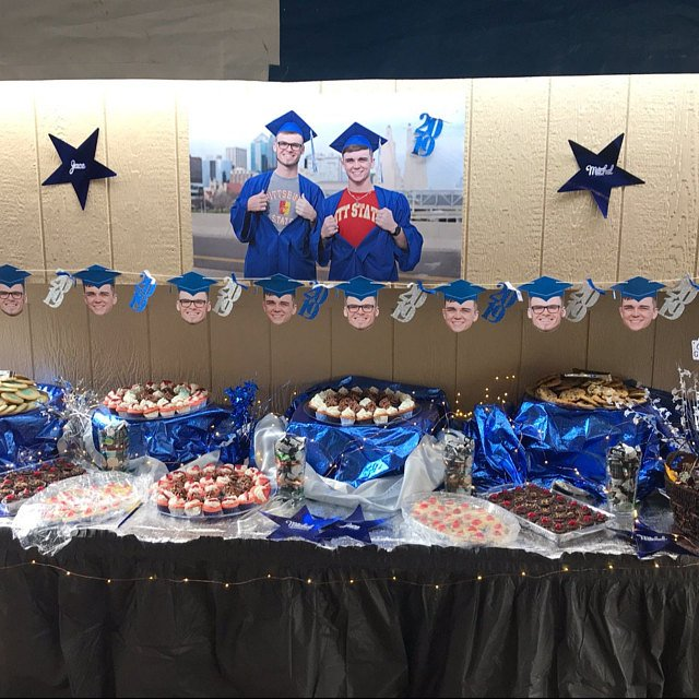 custom graduation face banner