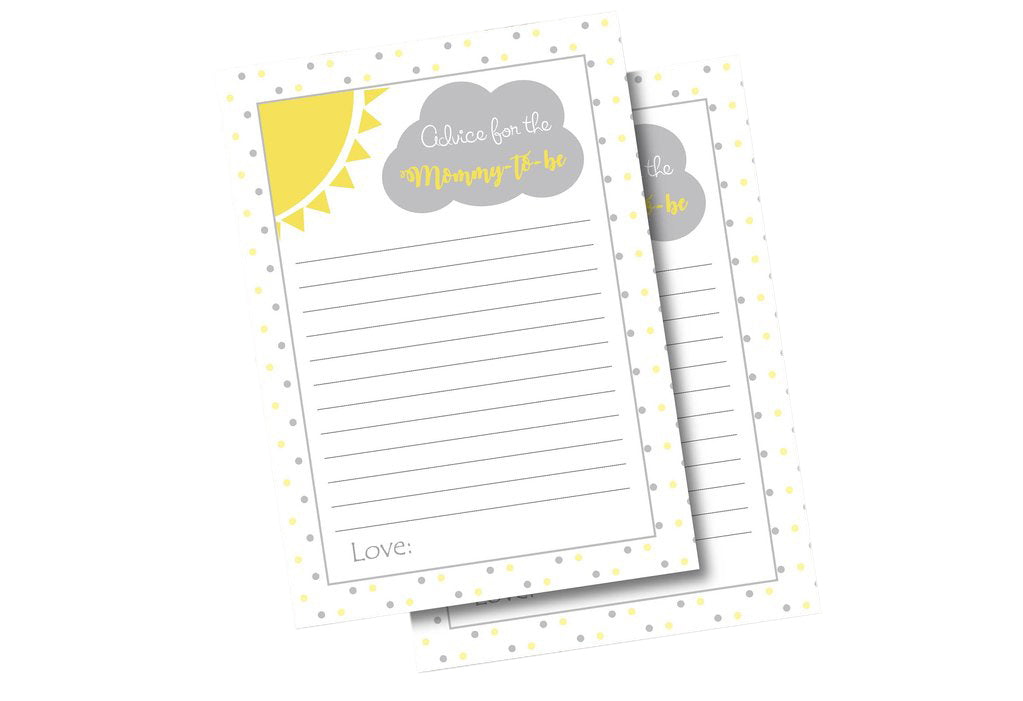 You are my sunshine mom to be advice cards