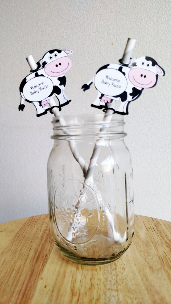 Cow party decorations for baby shower