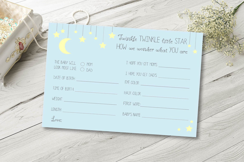 Twinkle little star prediction cards
