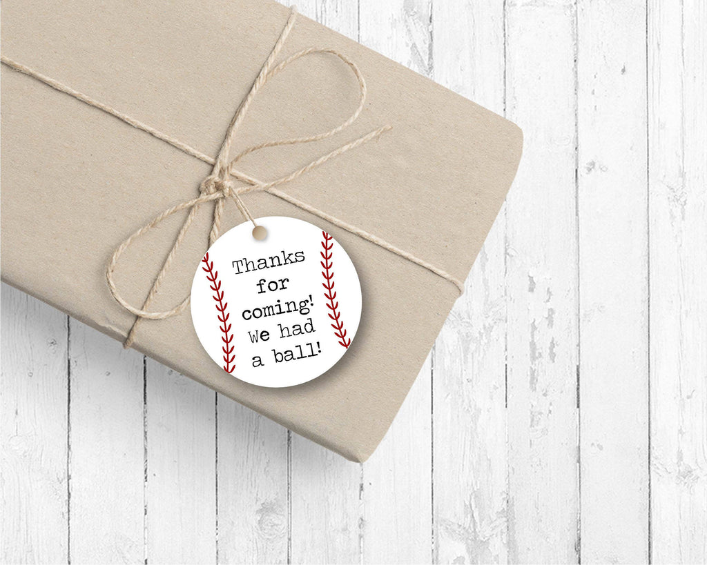 Baseball Favor Tags (set of 24) - for Birthday party or Baby Shower