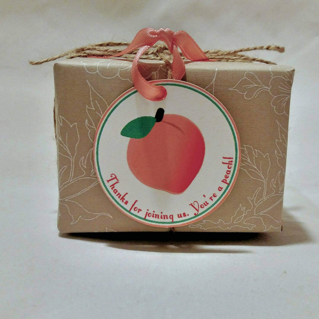Peach Favor Tags (set of 24) - Sweet as a Peach