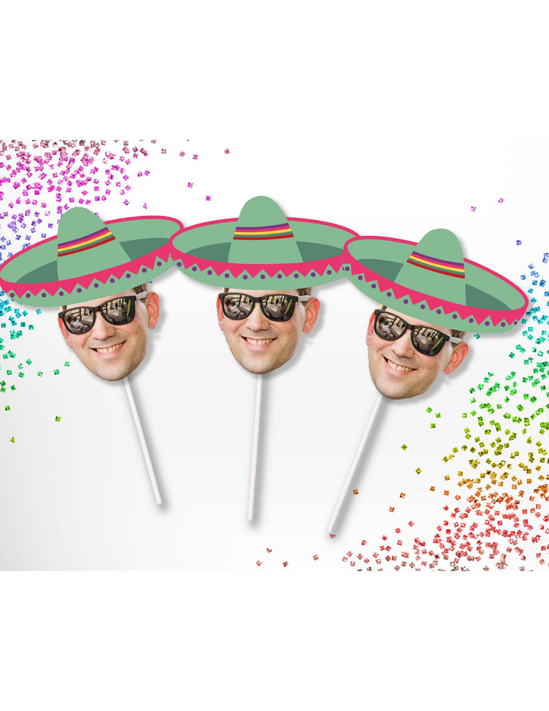 Sombrero Cupcake Toppers for Bachelorette Party