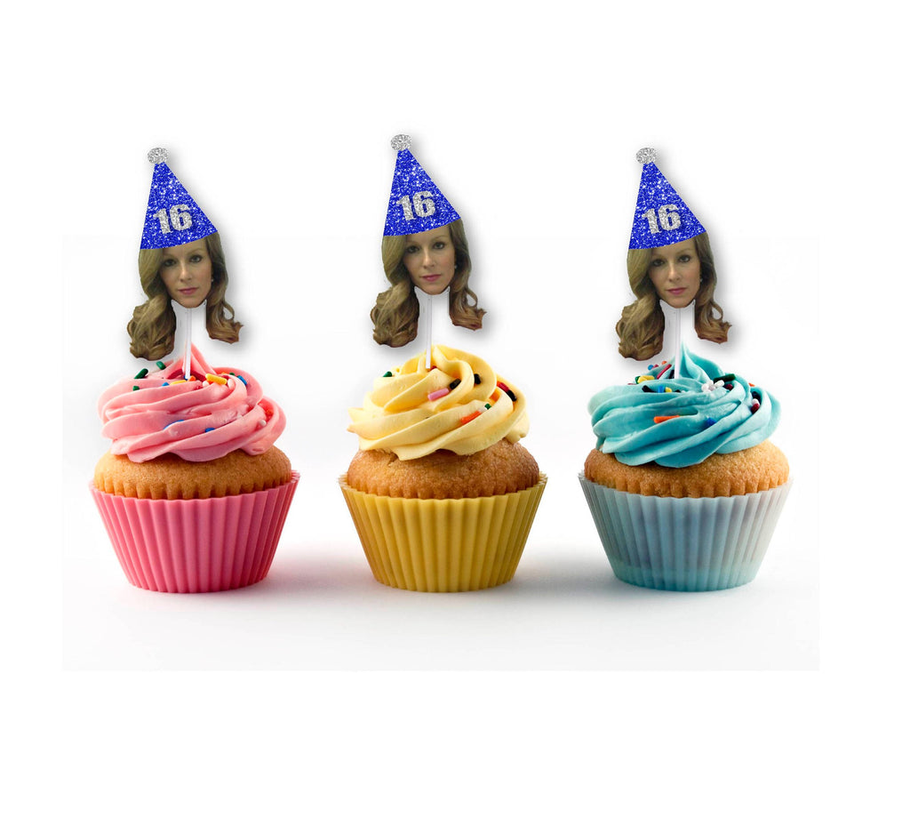 Blue Birthday Cupcake Toppers for any Birthday Party