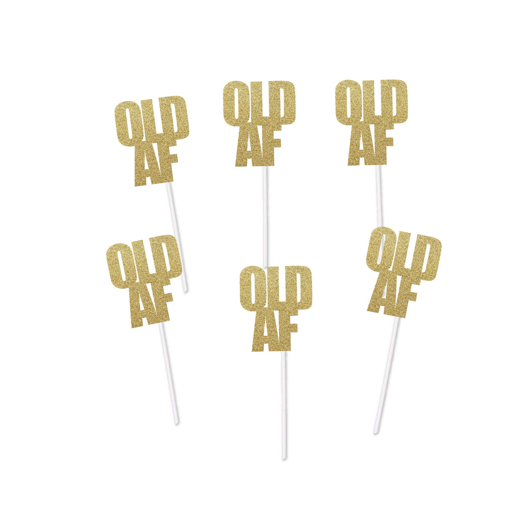 Old AF Cupcake Toppers (12 count)