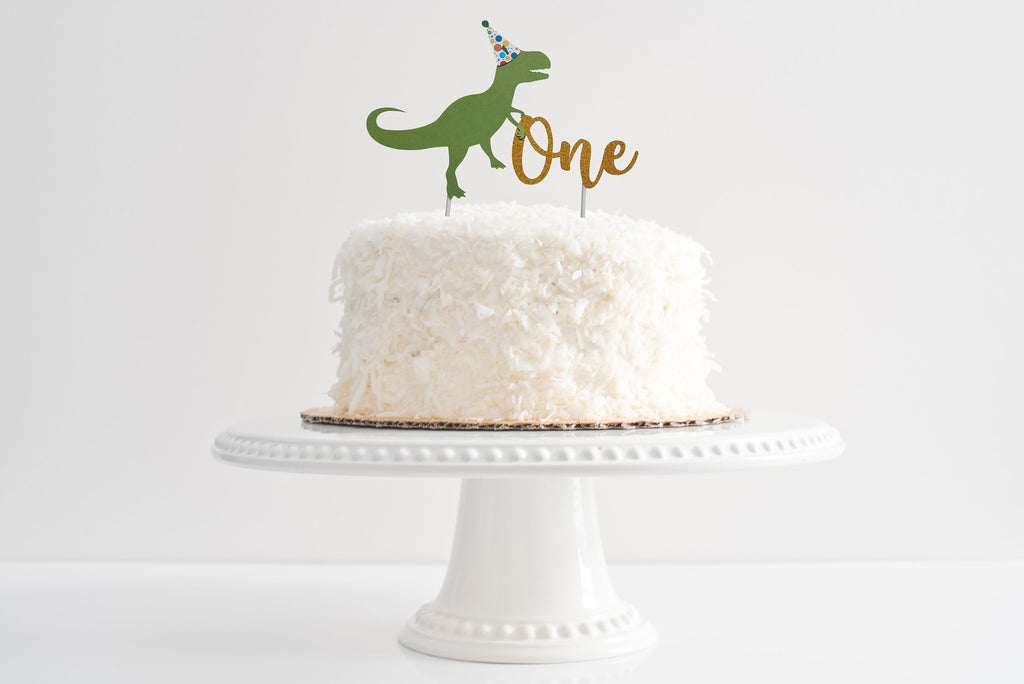 Dinosaur Birthday Cake Topper Pinkfish Shop